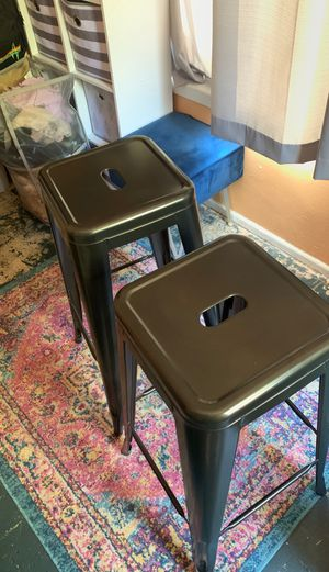 Steel backless bar stools! for Sale in Redondo Beach, CA