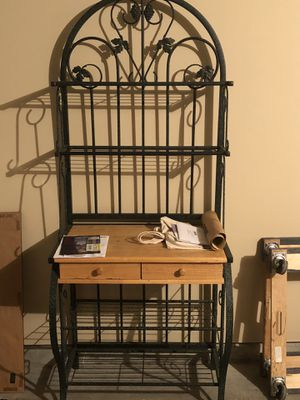 Oak And Metal Bakers Rack for Sale in Nashville, TN