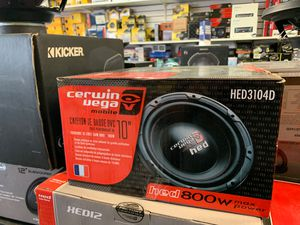 Cerwin Vega 10 inch subwoofer 800w for Sale in San Diego, CA
