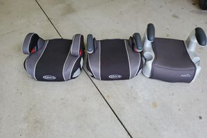 Booster car seats Two are Graco and one is Evenflo. for Sale in Medina, OH