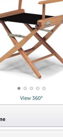 Director Chair, Black fabric with Varnish Frame (2 pack) for Sale in Renton,  WA