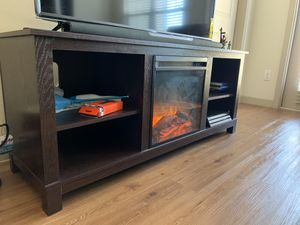 Tv Stand with Faux Fire and Heater for Sale in Lewisville, TX
