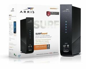 ARRIS SURFboard SBG6950AC2 16x4 DOCSIS 3.0 Cable Modem Wi-Fi Router McAfee Black for Sale in Glenview, IL