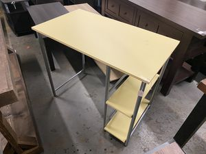 CLEARANCE Yellow Basic Desk with shelves for Sale in Houston, TX