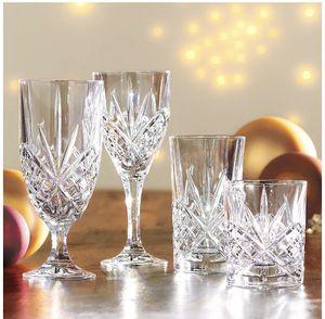Shannon Crystal Set - 12 Water Goblets, 8 Wine Goblets, 4 highballs, 4 lowballs for Sale in Mercer Island, WA