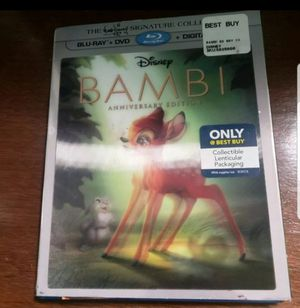 Bambi diamond edition anniversary blueray dvd for Sale in Greensboro, NC