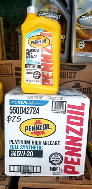 Pennzoil full synthetic 6qts for Sale in Montclair, CA