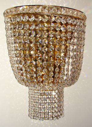 Austrian H18xW18 Swarovski Crystals gold plated structure wall mount chandelier for Sale in Chandler, AZ
