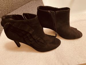 Suede Shoe Boots with Peep Toe for Sale in Miami, FL