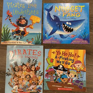 Set Of 4 Pirate And Shark Childrens Books for Sale in Lantana, FL