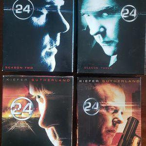 $20 - DVD Sets Seasons 1-4 of 24 w/ Kieffer Sutherland for Sale in Tacoma, WA
