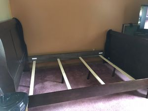 Wood Full Sized Bed Frame for Sale in Strongsville, OH