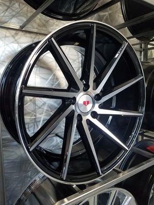 19x8.5 and 19x9.5 black machine face wheels 5x114 fits lexus honda mustang Infiniti nissan wheel tire rim shop for Sale in Tempe, AZ