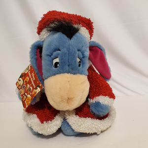 """Disney Store Santa Helpers Christmas Holiday Eeyore Plush Winnie the Pooh 12"""" for Sale in Brookfield, IL"""