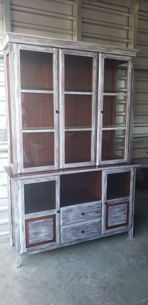Farmhouse Shabby Chic China Cabinet for Sale in La Mesa, CA