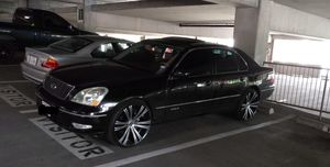 """2002 lexus ls 430 with 22"""" rims and factory wheels for Sale in Dallas, TX"""