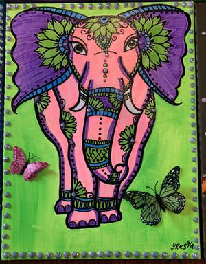 Elephant painting for Sale in Glen Cove, NY