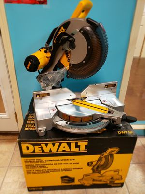 "Dewalt 12"" DOUBLE bevel compound miter saw for Sale in Johns Creek, GA"