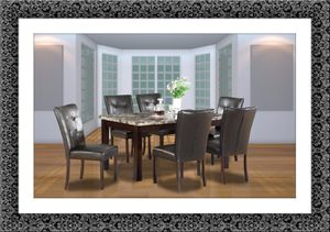 Marble dining table with 4 chairs and free shipping for Sale in Fairfax, VA