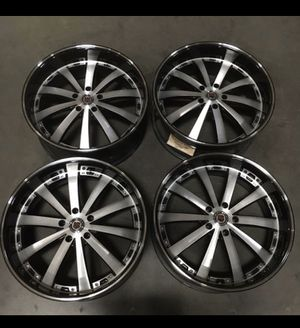 """22"""" red sport wheels (5x127) fits Jeep, Dodge, GMC, Chevrolet for Sale in Chula Vista, CA"""