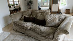 Down chenille sofa for Sale in Portland, OR