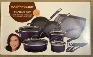 😲 New Rachel Ray 14 Pieces cookware bakeware for Sale in Orange, CA