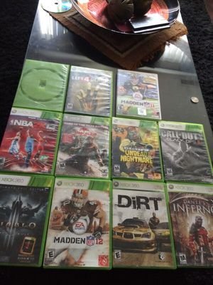 10 Xbox 360 games and 1 wii game for Sale in Washington, DC