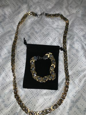 Stainless Steel Necklace/Bracelet for Sale in San Antonio, TX