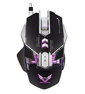 NEW! Gaming Mouse, M.Way Macro Programming Mechanical Gaming Mouse 7 Programmable Buttons 3 LED Colors, 3200 DPI 5 Adjustable DPI, USB Wired for Sale in Stuart, FL