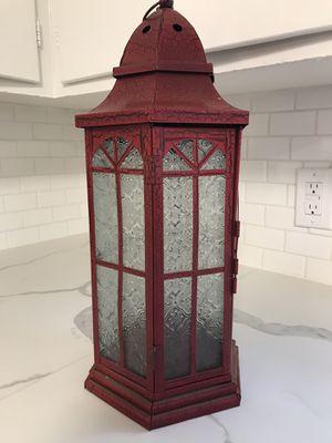 Farmhouse shabby chic plant stand lantern home decor for Sale in Lodi, CA