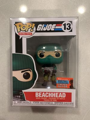 Beachhead GI Joe Funko Pop *MINT IN HAND* 2020 NYCC Exclusive Retro Toys 13 with protector for Sale in Flower Mound, TX