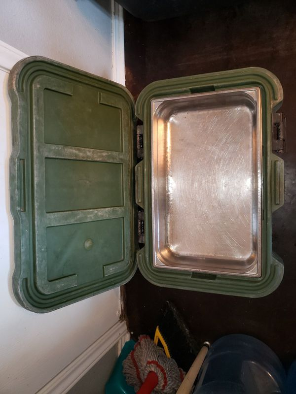 Army style Cambro food storage container