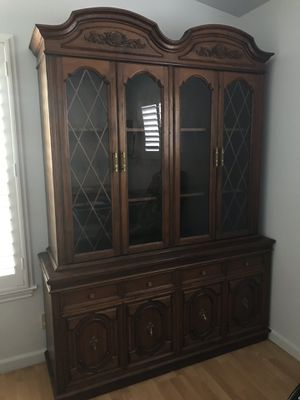 Antique Mahogany China Cabinet for Sale in Milpitas, CA
