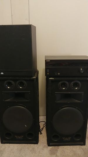 Stereo system- speakers, sub, and receiver for Sale in Chandler, AZ