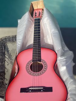 New Beginners 38'' Acoustic Guitar Package Kit for Right-handed Kids/AdultsStarters Be va usic Lovers w/Case, Strap, Pitch Pipe and Pick (Pink) for Sale in Santa Fe Springs,  CA