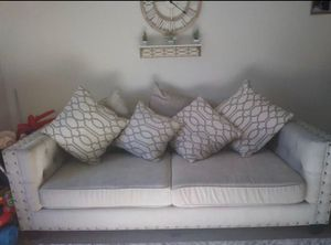 Tufted light grey couch set for Sale in Escondido, CA