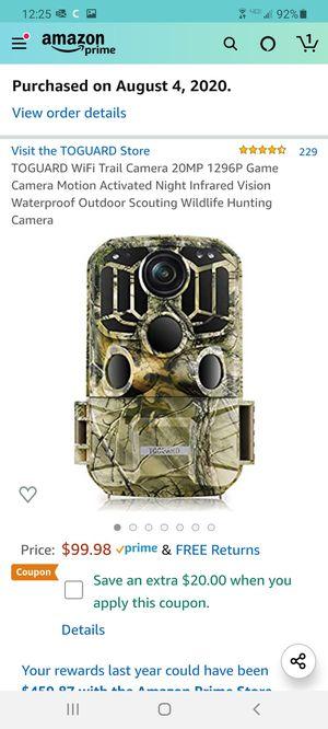 Toguard wifi trail camera 20mp for Sale in Miami, FL