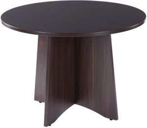 SUNON 42 INCH DIA ROUND CONFERENCE TABLE WITH X-SHAPED WOOD PANEL SMALL DINING TABLE (DARK WALNUT) for Sale in Las Vegas, NV