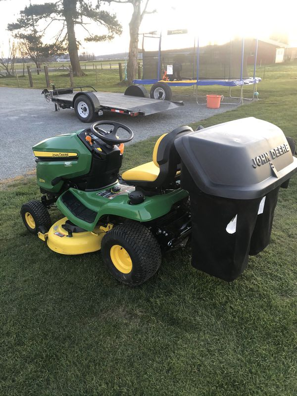 John Deere X330 Rider With Bagger For Sale In Mount Vernon