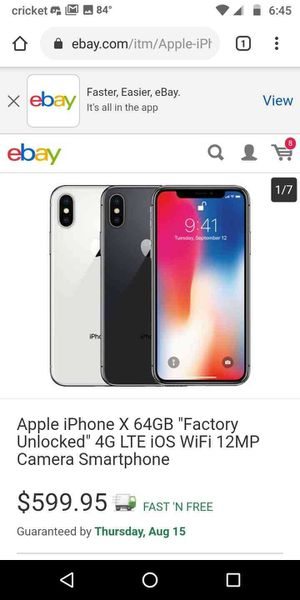 iPhone x for Sale in Mount Laurel Township, NJ