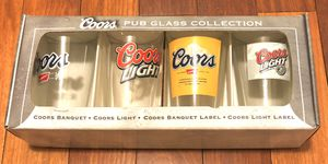 Coors Pub Glass Collection NEW for Sale in Rockville, MD