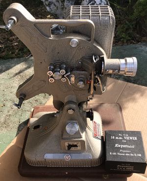 Keystone Belmont K161 16 mm projector, awesome condition but is missing the power cord for Sale in Bradenton, FL