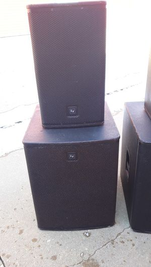 Ev powered speaker set for Sale in Chicago, IL