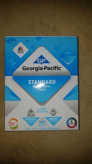 Georgia Pacific Multipurpose Copy Printer Paper for Sale in Springfield, VA