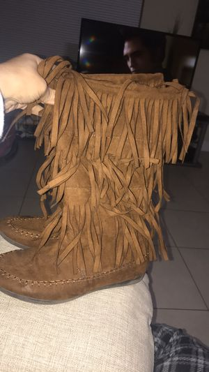 Layered Fringe Moccasin boots for Sale in Orlando, FL
