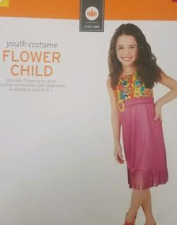 Youth Girls Flower Child Halloween Costume Dress-Up Playtime Outfit Sz: S (4-6) for Sale in North Las Vegas,  NV