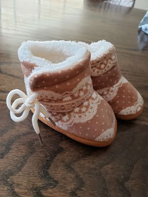 Warm baby fur boot slip ons for Sale in Rogersville, MO