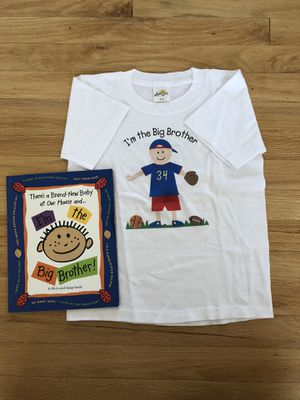 Big Brother Fill-in workbook and Tshirt Size 6-8 for Sale in Downers Grove, IL