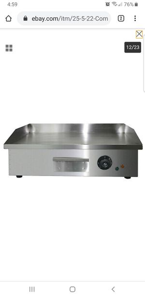 "25.5""/22""Commercial Electric Countertop Griddle Flat Top Grill Hot Plate BBQ for Sale in Bellflower, CA"
