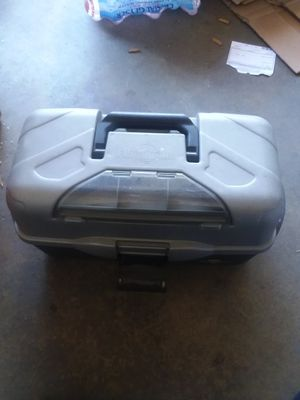 3 draw tackle box with a fishing rod for Sale in Methuen, MA